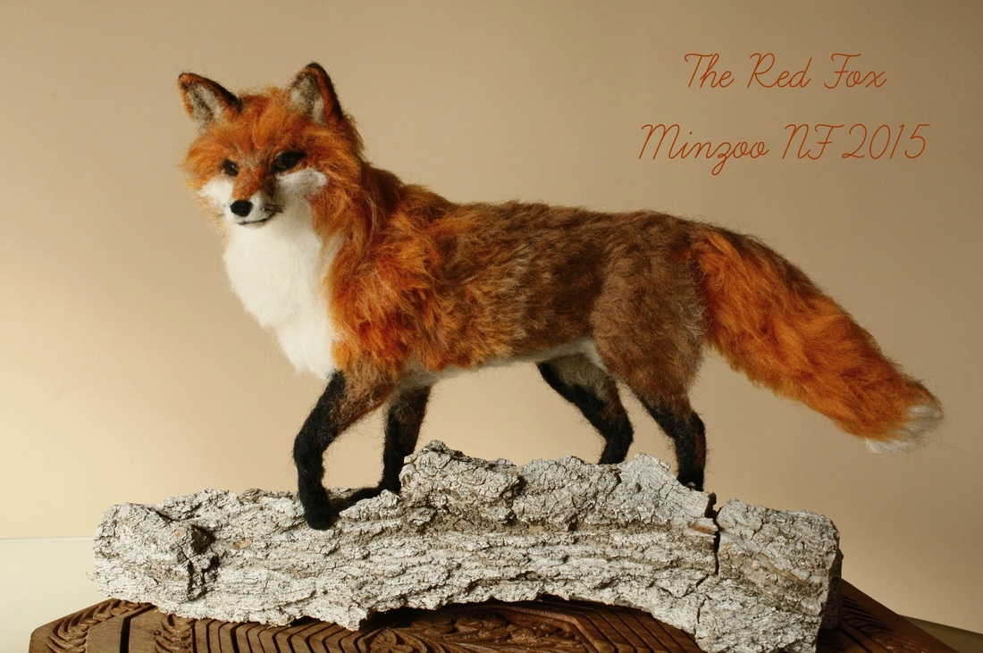 The Red Fox  needle felted sculpture